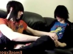 Two gay emo twinks making out on the bed part6