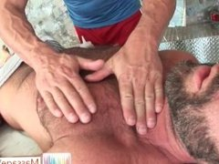 Bear getting his hairy body massaged part4