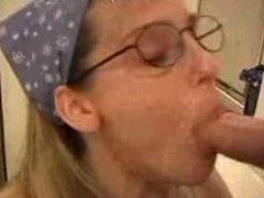 Blowjob with glasses