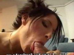 Hot Italian hardcore sex on couch