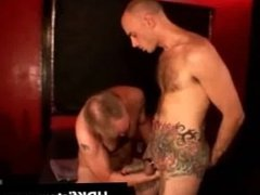 Gay dude gets his tattooed ass fisted part3