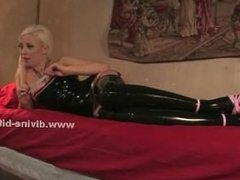 Cute hot horny mistress in tight dress