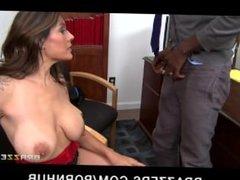 Slutty big-boobed college recruiter seduces her potential student