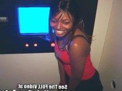 Ebony Cum Slut Gets a Strangers Gloryhole Creampie