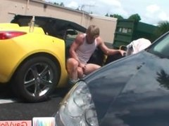 Blond bro gets butt pounded in car part4