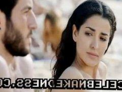 Celeb inma cuesta topless sunbathing big breasts on beach