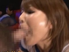 Cute babe Pine Shizuku gets cum drenched part4
