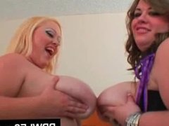 BBW lesbians toys their wet twats