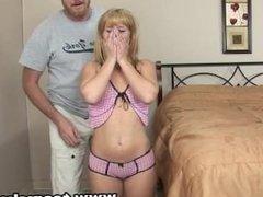 ExxxtraSmall Hot petite blonde teen Elizabeth Bentley fucks big c