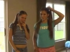 Twin sisters are horny for a fat hard cock