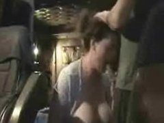 MILF with plump tits sucks cock for a cumshot on her chest