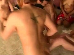 Party teens amateur dancing