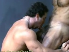Gay bear with huge dick get sucked