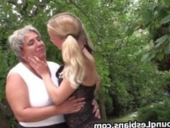Two horny mature wifes seducing a cute part5