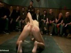 A kinky gay mob gangbang a boy in a bar