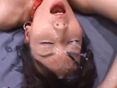Cute babe Shiho takes part in gangbang part4