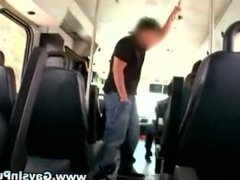 Straight guy gets turned in a bus blowjob encounter