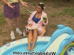 Sexy Waiter Fucks Hot Brunette MILF Lisa Ann 1080p HD
