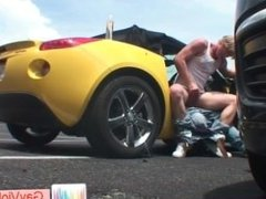 Blond dude gets stinker boned in car part4