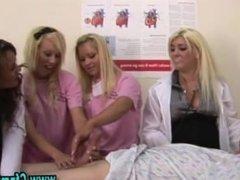 Cfnm british femdom fetish group handjob