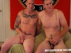 Marine Sam and Marine Bradley Suck Each Other Off