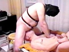 Mouth fucking of Gay slave