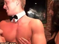 Cfnm amateur party girls suck male strippers