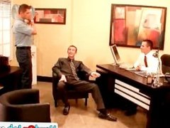 Hot gay office threesome 3 by HardOnJob part3