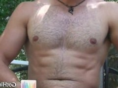 Amazing muscle hunk busting nuts 3 part3
