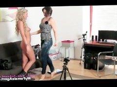 Horny female agent seduces part3
