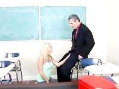 Hot nerd teen fucking with her teacher