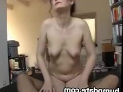 Sweet wife gives handjob with happy end