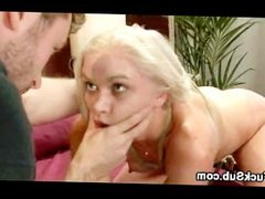 Sexy blondina gets giant cock bdsm