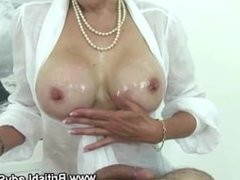 British pearl necklace mature slut