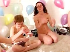 Real amateur lesbians muffdive at reality sexparty