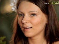 Sunset love and brunette model Bianca