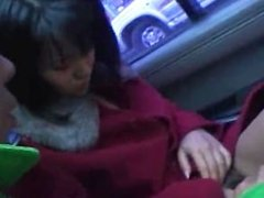 Hot asian babe in car having fun part6