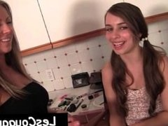 Teen teasing milf with assets