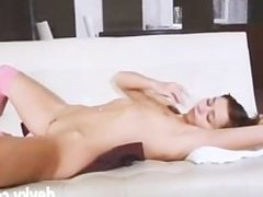 Beautiful Russian Natasha Teasing Body On A Sofa russian cumshots swallow