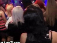 Horny skanks love the male strippers at the party orgy