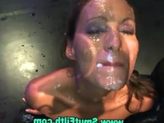 Fetish bukkake fuck suck and cum facials