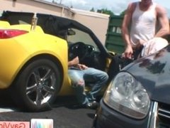 Blonde guy getting butthole pounded in vehicle part6
