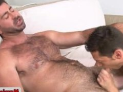 Hot gay stud fucking and sucking hairy guy part2