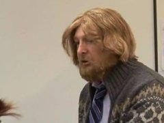 Cfnm schoolgirls jerk off their teacher