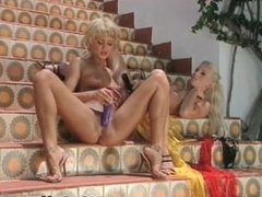 Two sexy blonde babes love stuffing part5