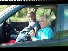Hot Granny Fucked Hard in the Car