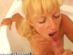 Mom sucking her neighbors cock part1