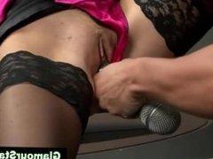 Dirty glamorous fetish stockings blonde