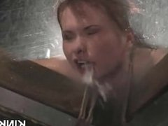 Huge tits redhead girl dominated and fucked