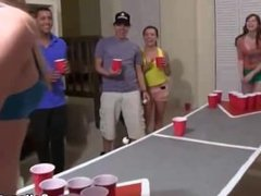 Strip Beer Pong At Crazy College Party